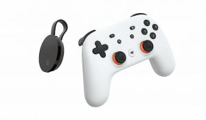 Controller di gioco e Chromecast per Google Stadia su TV