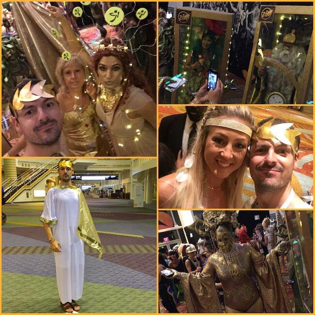 Un collage di foto del theme party Golden Ages della ZIN Convention di Orlando 2017