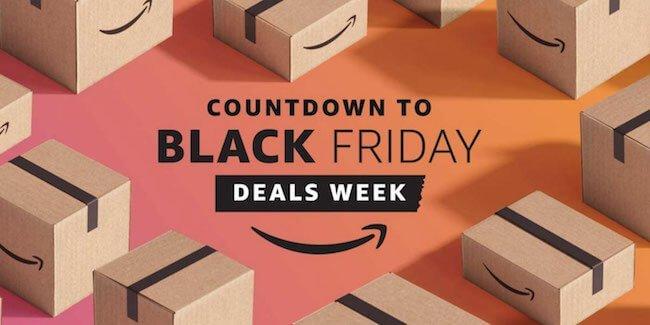 Banner Amazon con scritto countdown to Black Friday