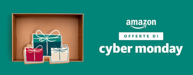 Banner Amazon con scritto Amazon Offerte di Cyber Monday