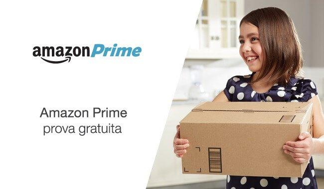 Banner di Amazon Prime prova gratuita per trenta giorni