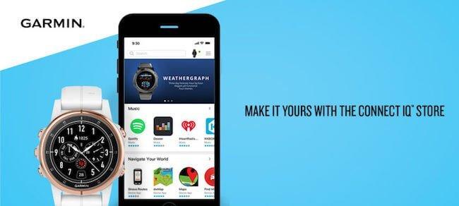 Una schermata di Garmin Connect IQ™ applicazione per smartphone