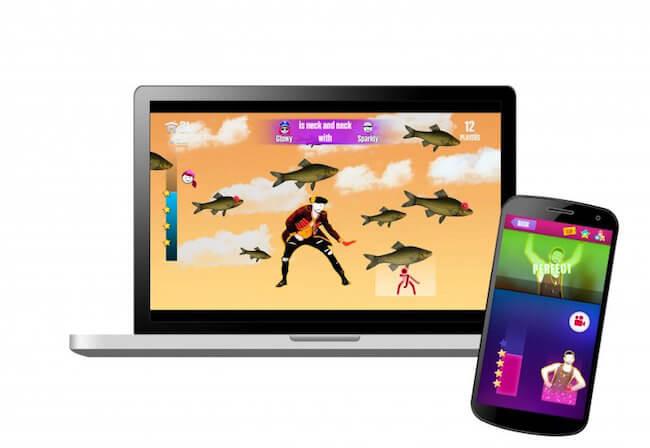 Just Dance Now giocato con lo smartphone ed il Mac Book Pro