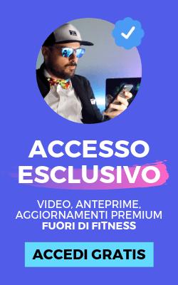 Banner con accesso esclusivo a video, anteprime ed aggiornamenti premium Fuori di Fitness. Clicca in qualsiasi punto di questa immagine per accedere gratis