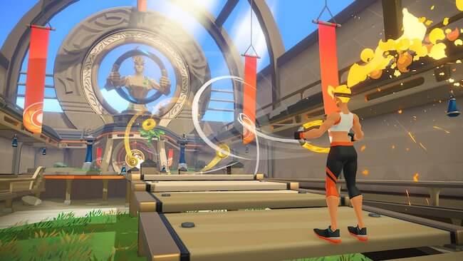 Immagine che raffigura una schermata del gioco Ring Fit Adventure per Nintendo Switch