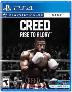 Confezione del videogioco CREED: Rise to Glory per PS4