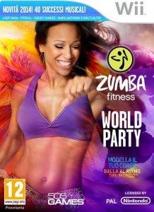 Confezione del videogioco Zumba Fitness World Party per Nintendo Wii