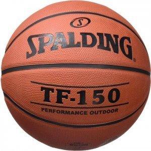Un pallone da basket marca Spalding
