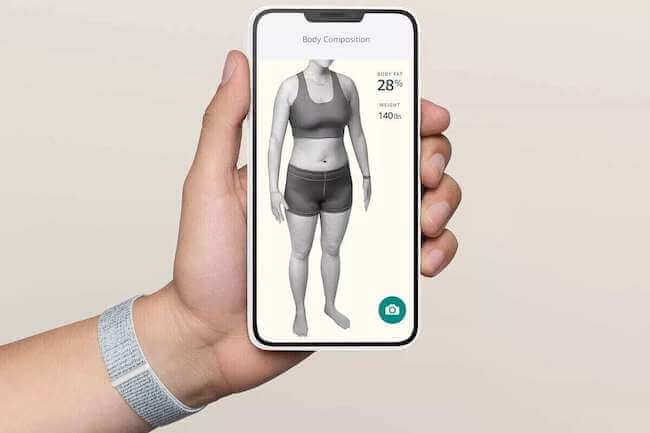 Immagine di un corpo femminile scannerizzato in 3D con Amazon Halo