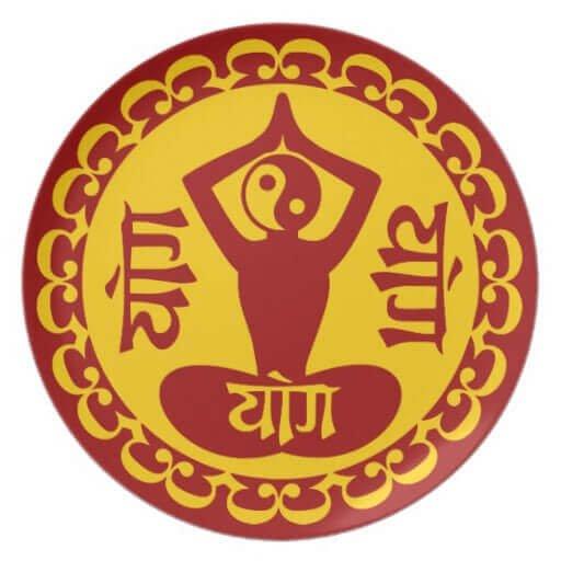 Icona dello yoga in sanscrito antico