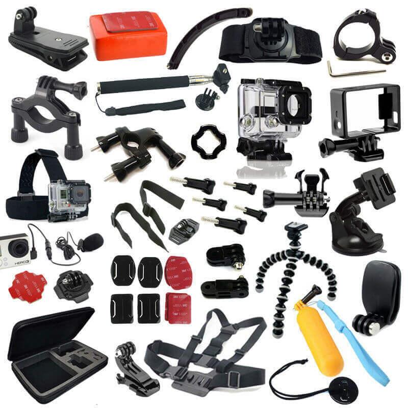 Una vasta gamma di accessori per la gopro